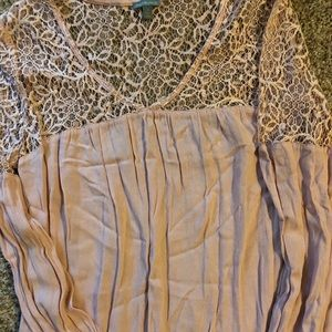 Charlotte Russe pink lace top Size S